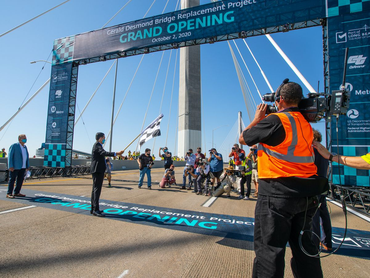Historic Grand Opening for Port of Long Beach Bridge Showcase Image
